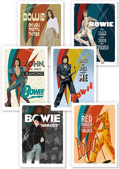Official Bowie greetings cards designs