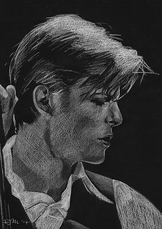 Bowie Drawings – The Thin White Duke