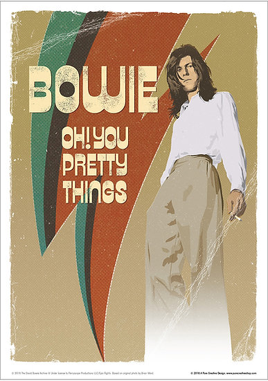 Official Bowie Hunky Dory design
