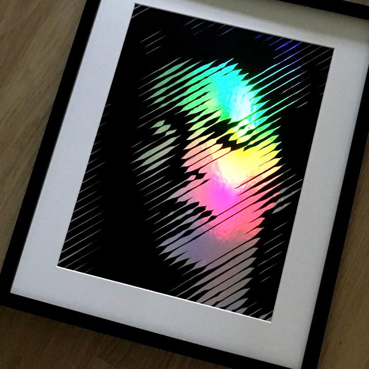 Ziggy 4 – Black on Silver