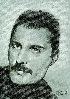Drawn Pop Stars – Freddie Mercury