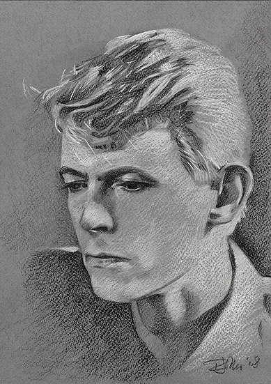 Bowie Drawings – Serious