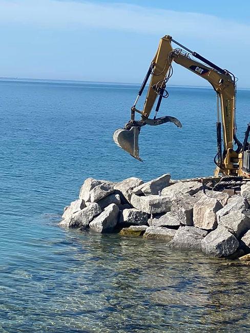 Rock, excavator, lake huron.jpg