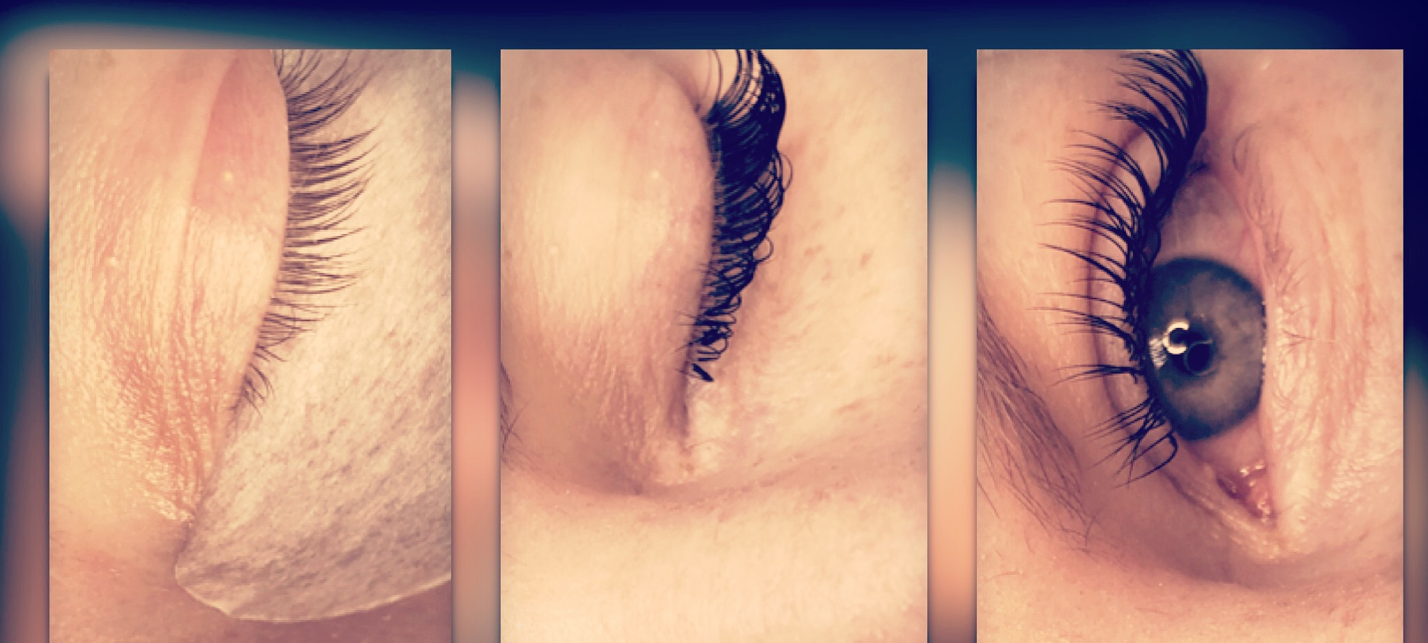 Lashes before & after