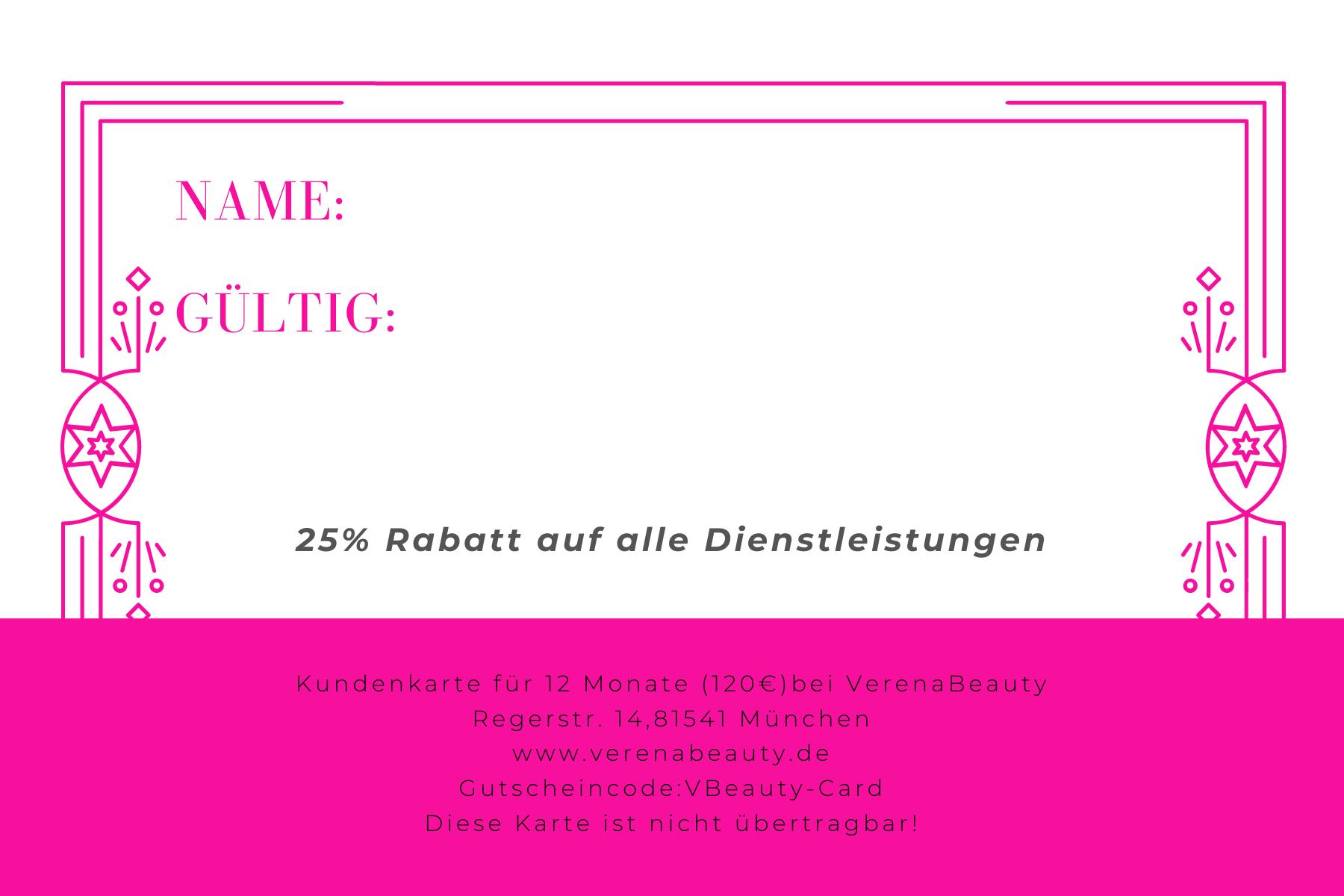 Mitgliedskarte VerenaBeauty