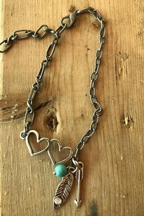'Double Heart' Bracelet