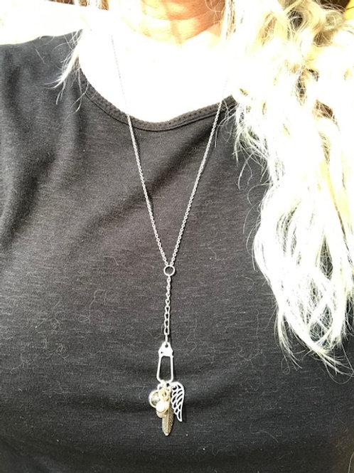 Angel Wing & Feathers Necklace