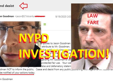 Jason Goodman launches another NYPD investigation into BLM conspiracy claims