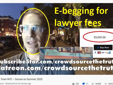 Jason Goodman takes to e-begging to raise EMMY lawsuit attorneys fees -- $5,000 tote bag anyone?