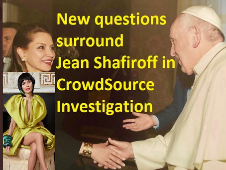 [ALERT:] Was Jean Shafiroff interview a Charles Ortel sting operation? (CrowdSource investigation)