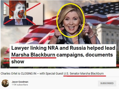 Russia-linked Marsha Blackburn joins Jason Goodman conspiracy show under N.Y.A.G. watchful eyes