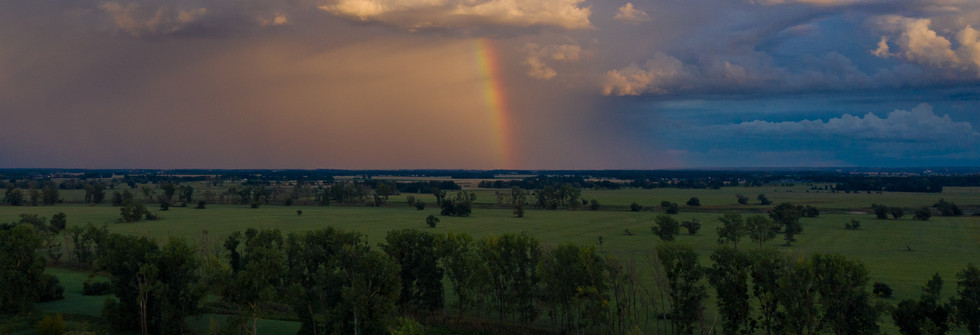 Luftbild Regenbogen _ Regen _ Sonne