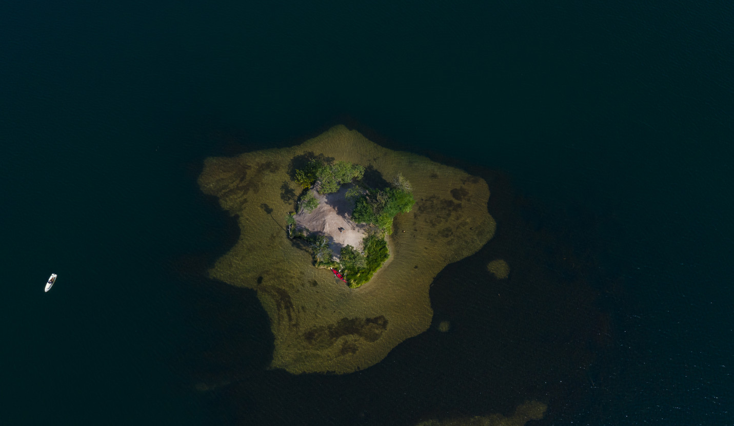 Luftbild Insel