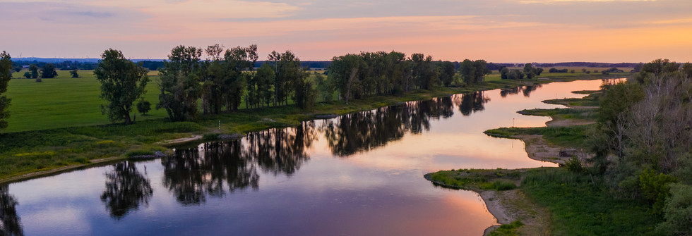 Luftbild Sonnenuntergang
