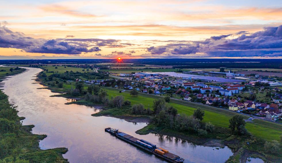 Luftbild Elster Elbe