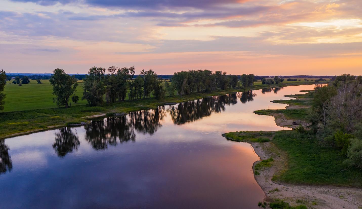 Luftbild Fluss _ Wasser