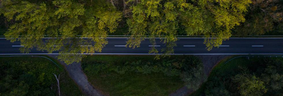 Luftbilder Wald _ Straße