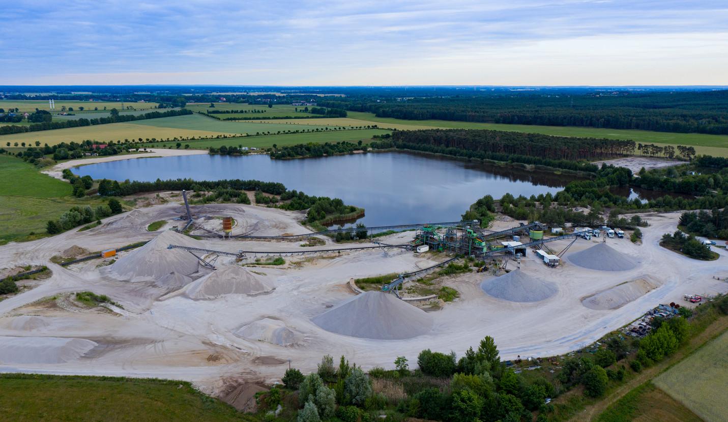 Luftbild Kieswerk Dixförda