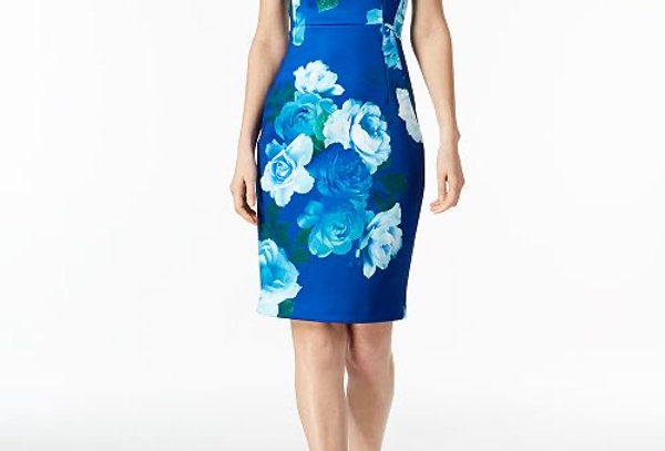 Calvin Klein Floral Midi Dress