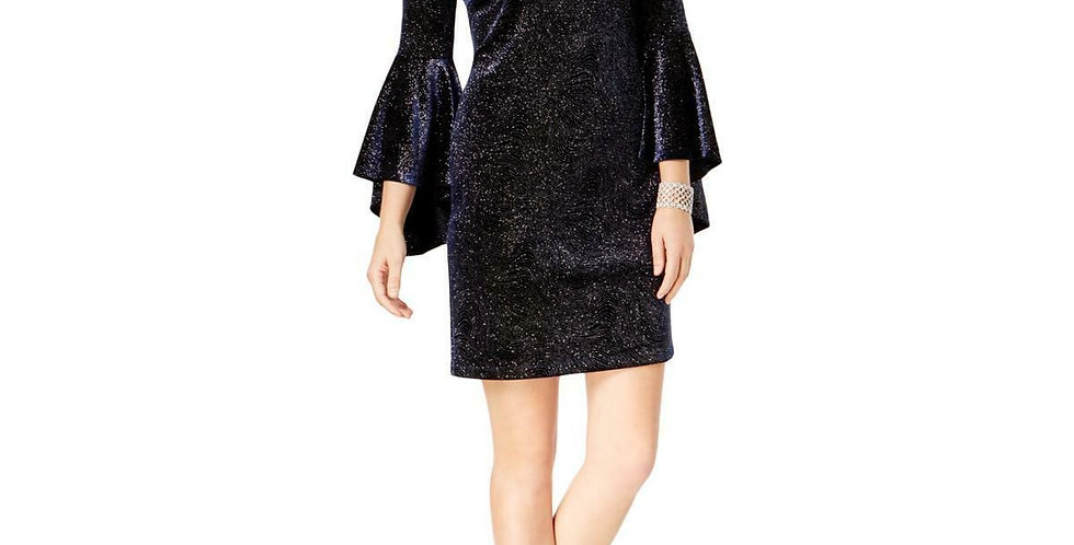 Jessica Howard Women's Bell-Sleeve Sparkle Dress