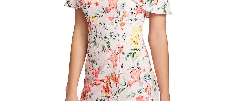 Guess Floral Off The Shoulder Dress