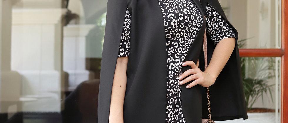 Black Dress Puffy Sleeve