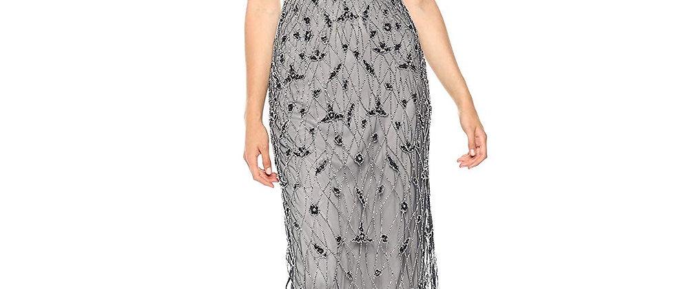 Adrianna Papell Embellished V-Neck Sheath Dress