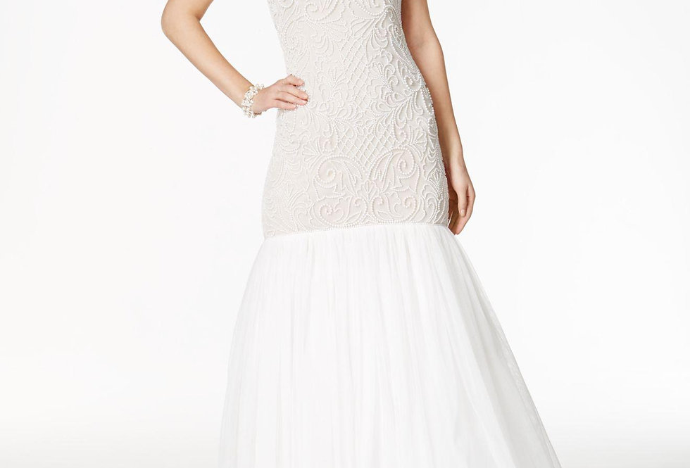 Adrianna Papell Beaded Strapless Mermaid Dress