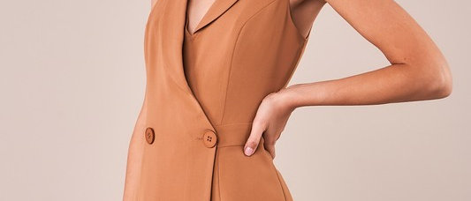 Camille Double Button Blazer Jumpsuit