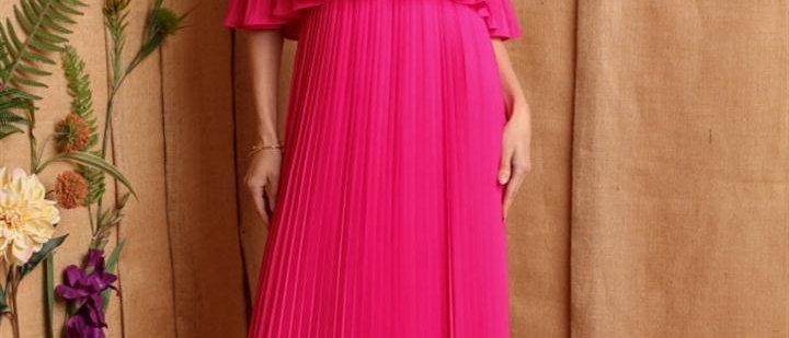 Tube Maxi Pleated Dress