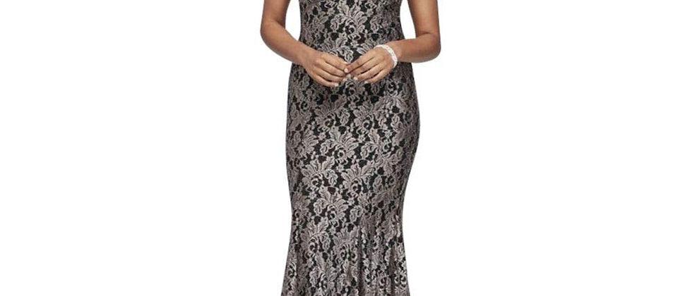 R&M Richards Nightway Long Glitter Dress