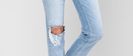 Super High Rise Stretch Slim Straight Jeans