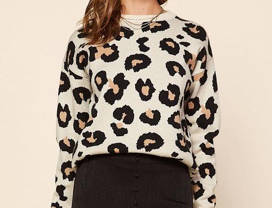 Animal Jacquard Sweater