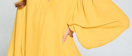 Zacapa V-Neck Ballon Sleeve Blouse