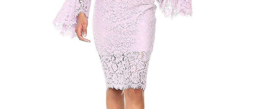 Bardot Bell Sleeve Off The Shoulder Dress