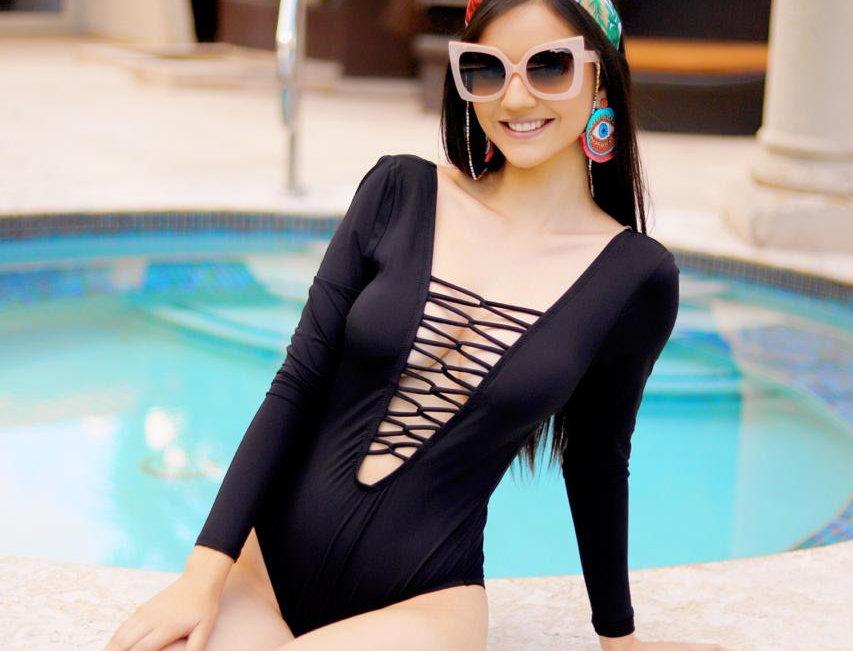 One Piece Long Sleeve Swimsuit