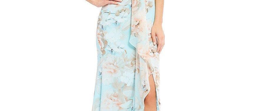 Calvin Klein Open Leg Floral Dress