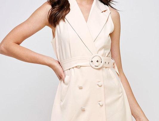 Sleeveless Belt Dress