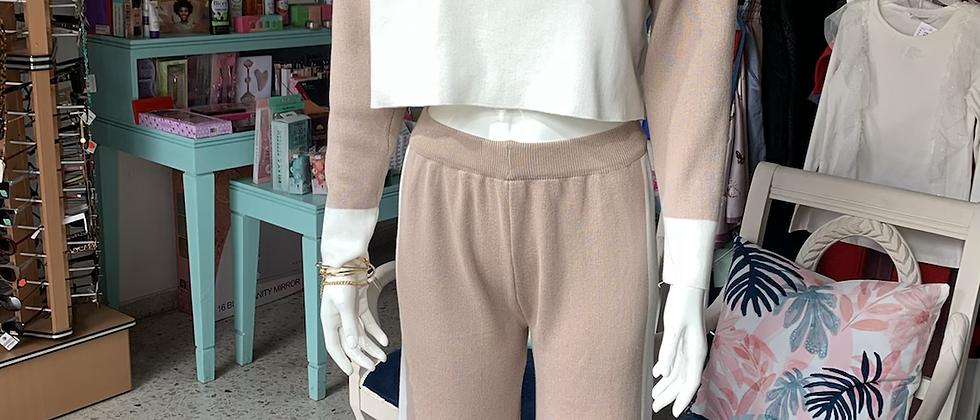 Contrast Cozy Knit Set