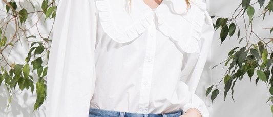 Ruffle Peterpan Collar Blouse