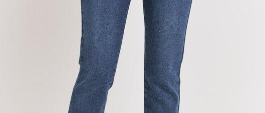 Relaxed Fray Dark Denim Skinny Jean