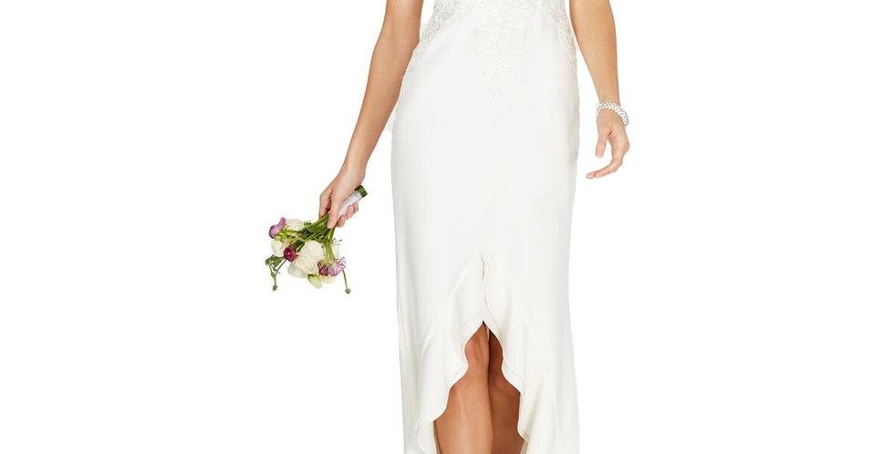 Adrianna Papell High Low Wedding Dress