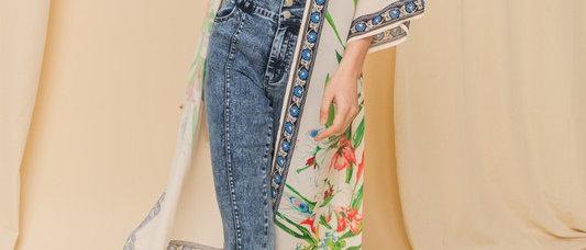 Printed Woven Kimono