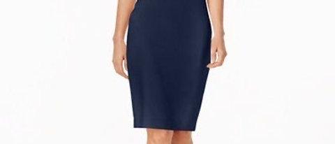 Calvin Klein Women's Off-The-Shoulder Crepe Dress
