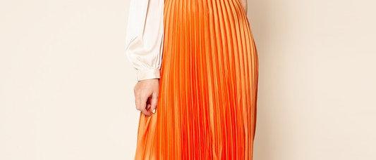 Orange You Glad Pleated Skirt