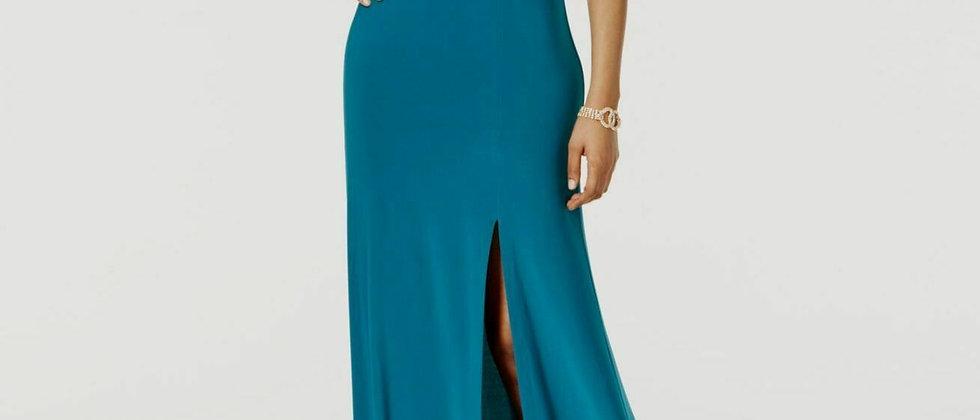 Nightway Cut out Cold Shoulder Side Slit Evening Dress