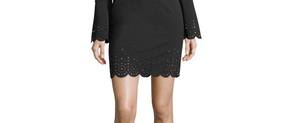 Michael Kors Womens Laser Cut Bodycon Cocktail Dress