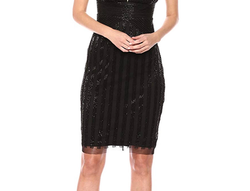 Adrianna Papell Cocktail Beaded Dress