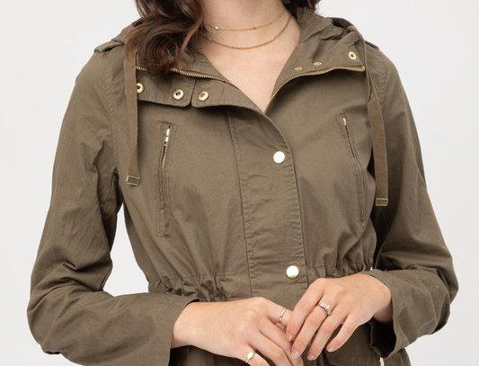 Long Sleeves Hoodie Utility Jacket