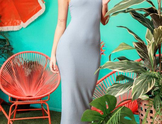 Wide Strap Cami Midi Dress